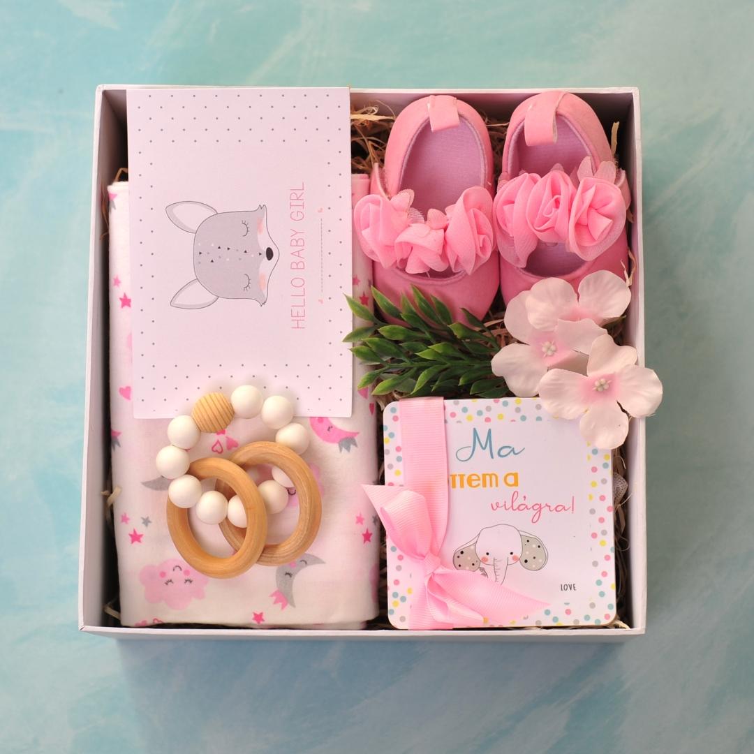 Baby Love újszülött kislány ajándékcsomag